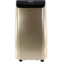 Picture of AMANA-Portable Air Conditioner with Remote Control in GoldBlack for Rooms up to 250-Sq. Ft.