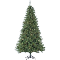Picture of FRASER HILL-7.5-Ft. Canyon Pine Christmas Tree with Clear LED Lighting