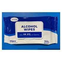 Picture of CARESOUR-Alcohol Wipes in Resealable Pouch of 50