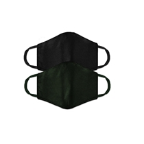 Picture of AMERICAN EXCHANGE-2 - Pack Mens Face Mask - (Black) - (Green)