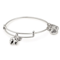 Picture of ALEX AND ANI-Elephant Charm Bangle - (Rafaelian Silver Finish)