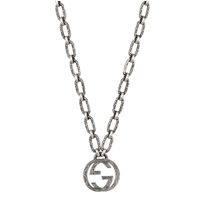 Picture of GUCCI-Interlocking G Small Pendant Chain Link Necklace - (Sterling Silver)