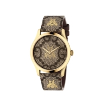 Picture of GUCCI-38mm - Unisex G Timeless GG Supreme Canvas Leather - (Brown)