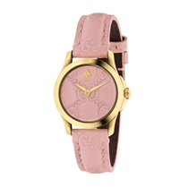 Picture of GUCCI-27mm - Ladies G Timeless Signature Gold Pastel Pink Watch