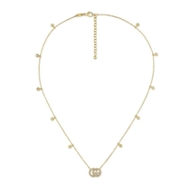 Picture of GUCCI-GG Running Diamond Necklace - (Gold)