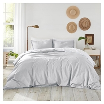 Picture of ATELIER MARTEX-Sateen Full/Queen Duvet Cover and Shams 3 Piece Set - (Grey)