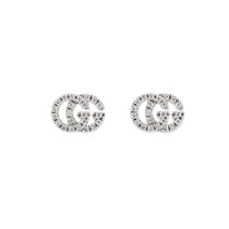 Picture of GUCCI-18 KT Stud Earrings In White Gold With Diamonds