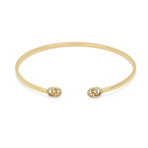 Picture of GUCCI-18K Yellow Gold Cuff Bracelet With Diamonds