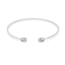 Picture of GUCCI-18 KT Cuff Bracelet With White Gold Diamonds