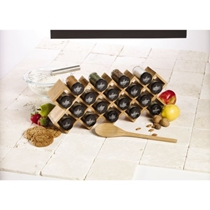 Picture of KAMENSTEIN-18-Jar Criss-Cross Bamboo Spice Rack with Free Spice Refills for 5 Years