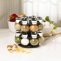 Picture of KAMENSTEIN-16-Jar Revolving Spice Rack with Spice Refills for 5 Years