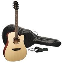 Picture of SAMSON TECHNOLOGIES-Carlo Robelli Dreadnought Acoustic Electric Guitar Pack
