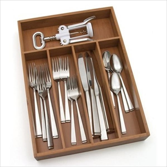 Picture of LIPPER-Bamboo Smaller Flatware Tray