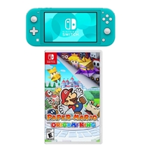 Picture of NINTENDO-Switch Lite with Paper Mario: The Origami King - (Turquoise)