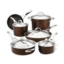 Picture of ANOLON-11 - Piece Copper Hard Anodized Nonstick Cookware Set - (Sable)