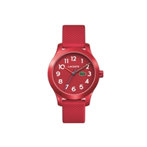 Picture of LACOSTE-Childrens 12.12 Kids Red Silicone Strap Watch