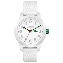 Picture of LACOSTE-Childs 12.12 Watch with White Silicone Strap