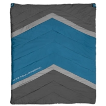 Picture of ALPS MOUNTAINEERING-Spectrum +20 Degrees Wide Twin Peak Double Sleeping Bag - (Green and Grey)