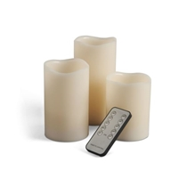 Picture of EVERLASTING GLOW-3 Piece Flameless Wax Candle Set