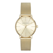 Picture of ARMANI EXCHANGE-36mm Ladies Lola Stainless Steel Three Hand Dress Watch - (Gold)