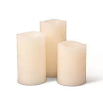 Picture of EVERLASTING GLOW-3 Piece LED Wax Candle Set