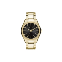 Picture of ARMANI EXCHANGE-Mens Three-Hand Gold-Tone Stainless Steel Watch