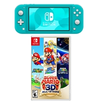 Picture of NINTENDO-Switch Lite with Mario 3D All Star - (Turquoise Lite)