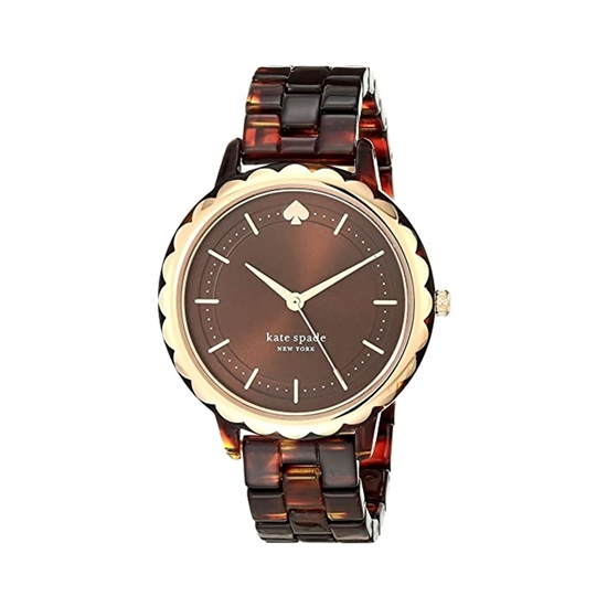 Picture of KATE SPADE-38mm Ladies Morningside Three Hand Tortoise Acetate Watch