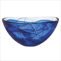 Picture of KOSTA BODA-Contrast  - Bowl Blue