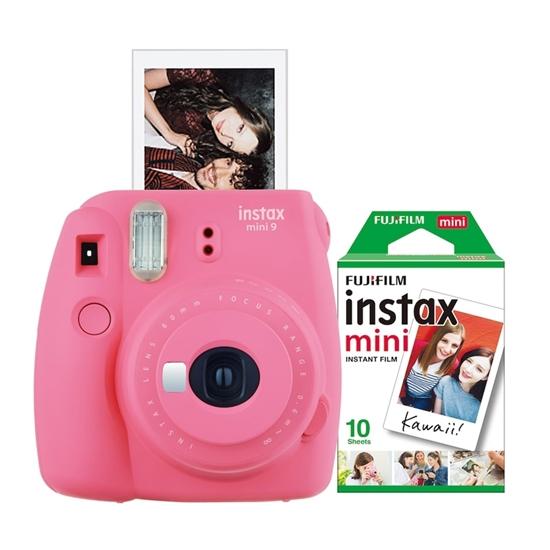 Picture of FUJIFILM-Instax Mini 9 Bundle with 10 Exposure Film - (Pink Flamingo)